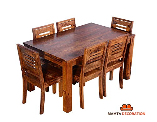 Mamta Decoration Sheesham Wood Wooden Dining Table with 6 Chairs