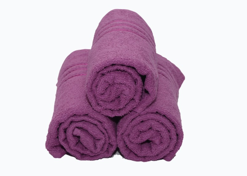 Bombay Dyeing Cotton 350 GSM Bath Towel (Pack of 3) Purple Color