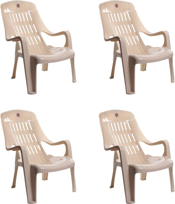 Cello Plastic Living Room Chair, Finish Color – Beige