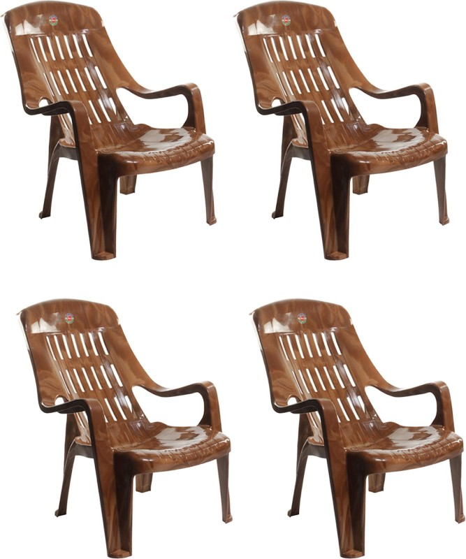 Cello Plastic Living Room Chair , Finish Color – Sandalwood Brown