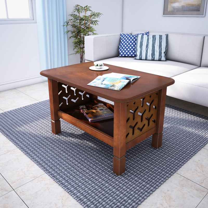 @home by Nilkamal Solid Wood Coffee Table, Finish Color – Walnut