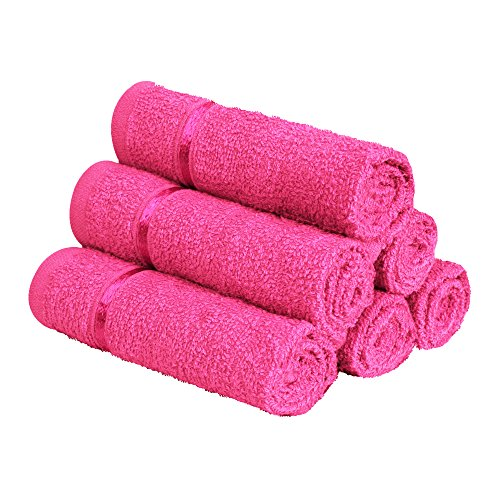 Story@Home Cotton 450 GSM Face Towel Set – Pink (Pack of 6)