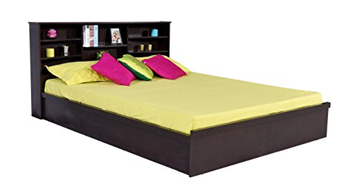 DeckUp Dusun Queen Size Engineered Wood Bed (Finish – Dark Wenge)