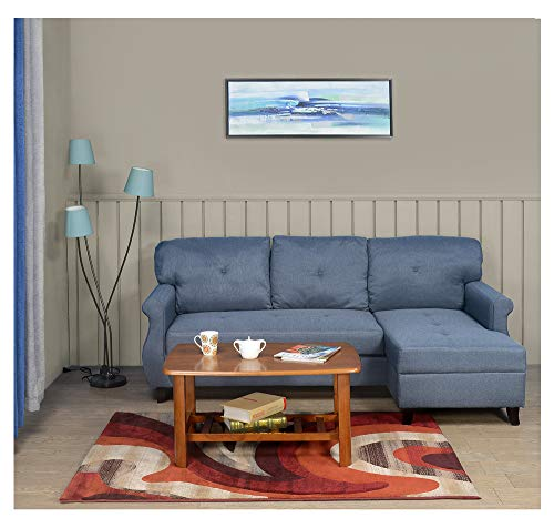 @home by Nilkamal Benin Three Seat Sofa Cum Bed ( Color – Dark Blue)