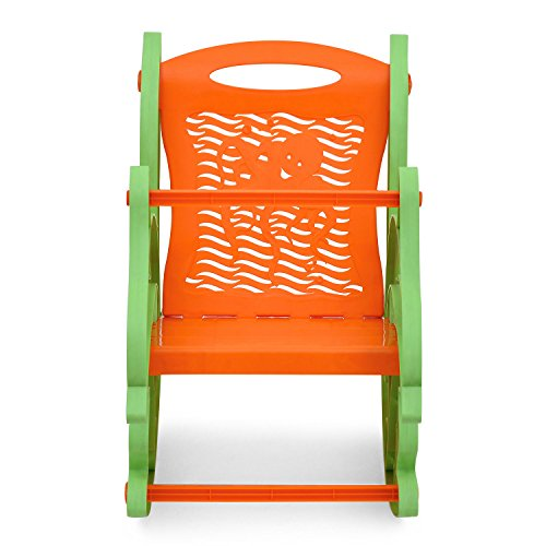 Nilkamal Dolphin Rocker Kids Chair – Green and Orange