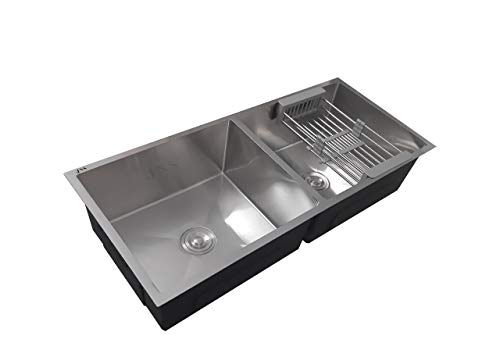 JNS Reputed Double Bowl Kitchen Sink 37 * 18 * 10 Inch/High Quality Stainless Steel Imported Kitchen Sink