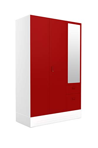 Godrej Interio Slimline Blend 3-Door Almirah (Textured Finish, Ceremine Red)