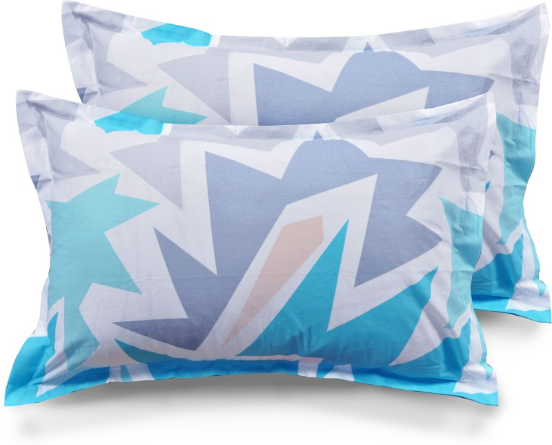 Ahmedabad Cotton Abstract Pillows Cover -Pack of 2, 45 cm*69 cm, Multicolor