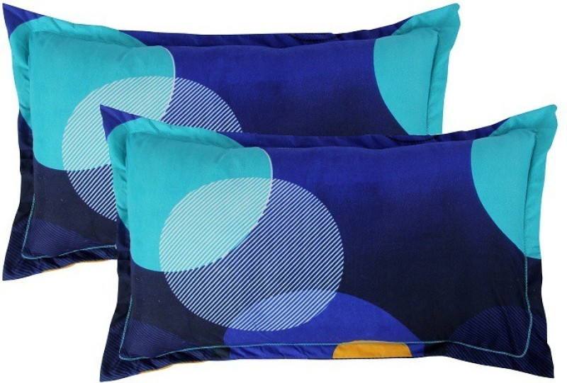 BSB Trendz Printed Pillows Cover  -Pack of 2, 50 cm*76 cm, Dark Blue