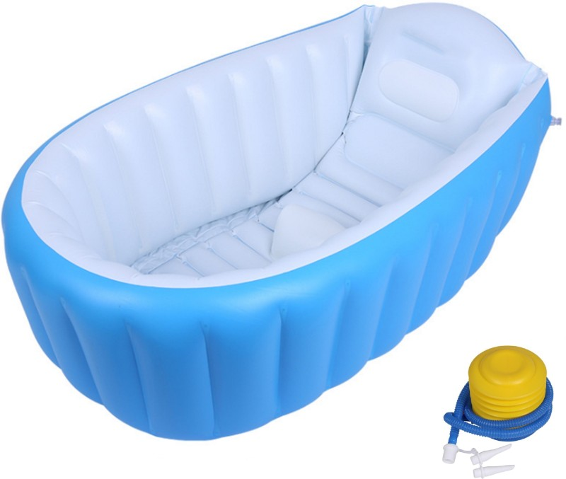 Cho Cho Inflatable Baby Bath Tubs for New Born Babies – Imported – BPA FREE -Blue
