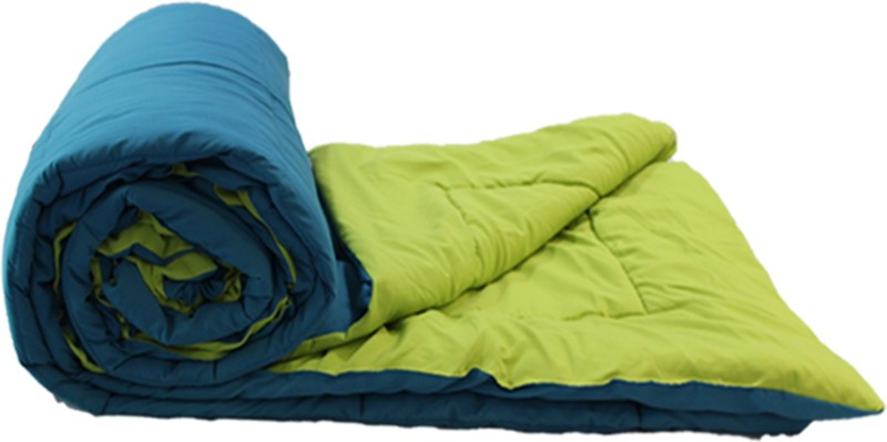 Easy Living Solid Double Comforter  -Polyester, Green, Teal