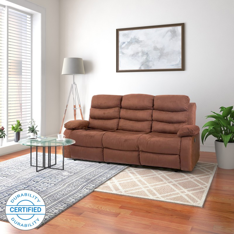 Flipkart Perfect Homes Costello Fabric Manual Recliners  -Finish Color – Brown
