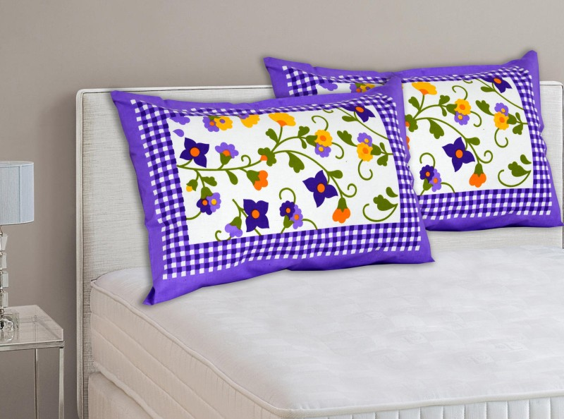 Flipkart SmartBuy Printed Pillows Cover  Pack of 2, 46 cm*46 cm, Purple