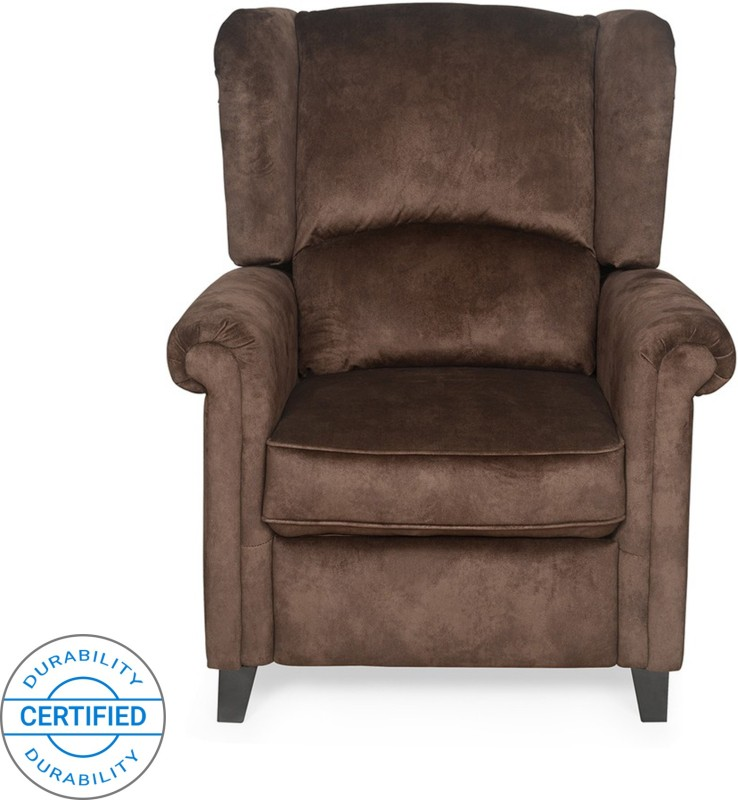 @home by Nilkamal Fabric Manual Recliners -Finish Color – Brown