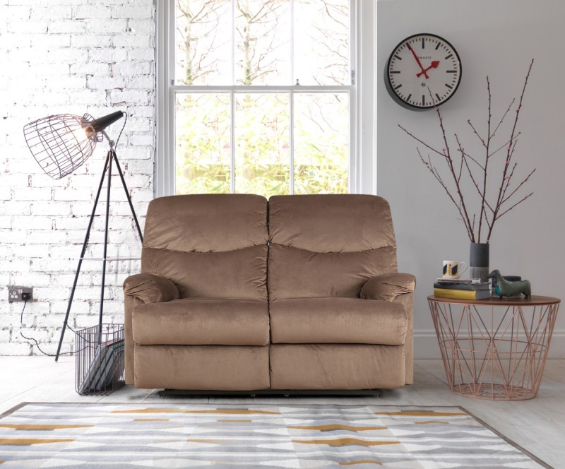 HomeTown Fabric Manual Recliners -Finish Color – Mocha