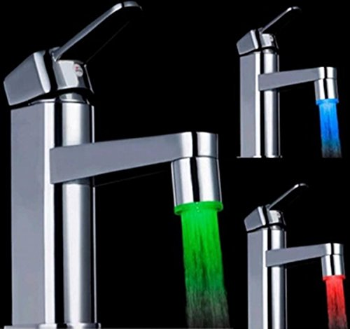 7 Colour Changing Glow Shower Stream LED Light Water Faucet Tap