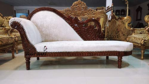 Aarsun Woods Wooden Lounge 3 Seater, Sheesham Wood, Handcrafted Couch Chaise