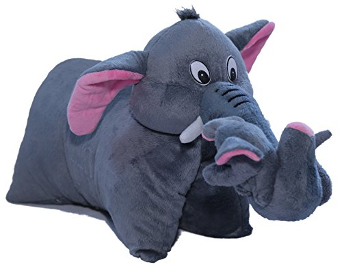 Amardeep and Co Fun Pillow – Elephant Gray- ad201