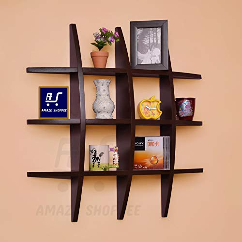Amaze Shoppee Wood Globe Shape Wall Shelf,