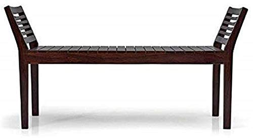 BL Wood Sheesham Wood Bench for Home in Mahogany Finish