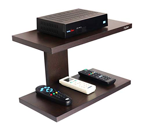 Captiver Wall Mounted Set Top Box Stand Wenge Organizer Tv Entertainment Unit Stand