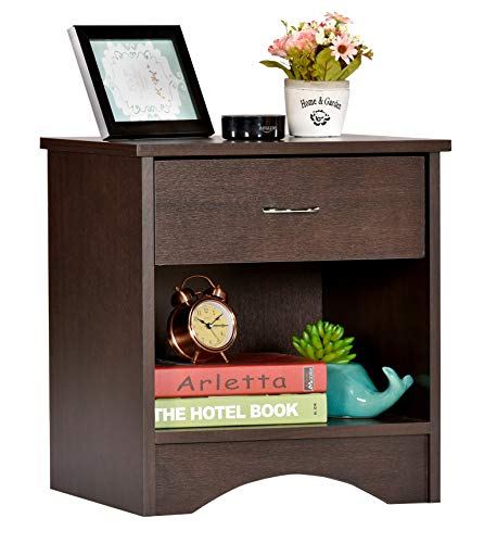 DeckUp Bei Bedside Table and End Table with Storage