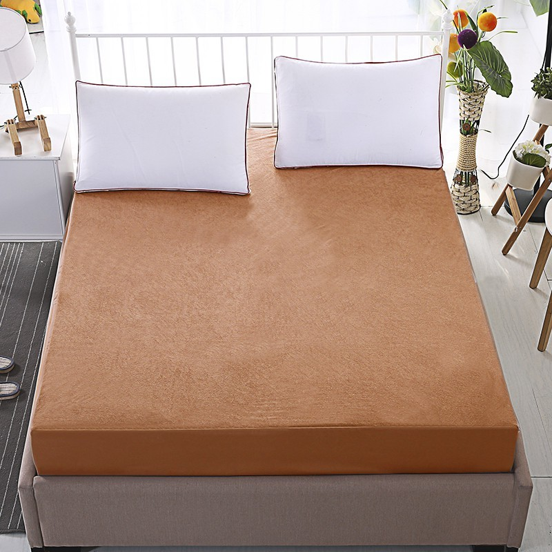 Dream Care Fitted King Size Waterproof Mattress Protector -Gold