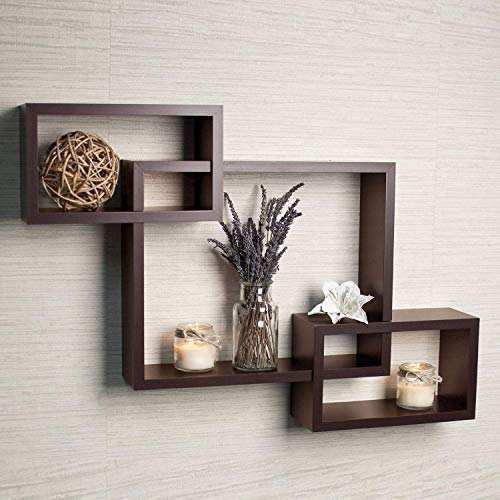DRIFTINGWOOD MDF Intersecting Wall Mounted Shelf