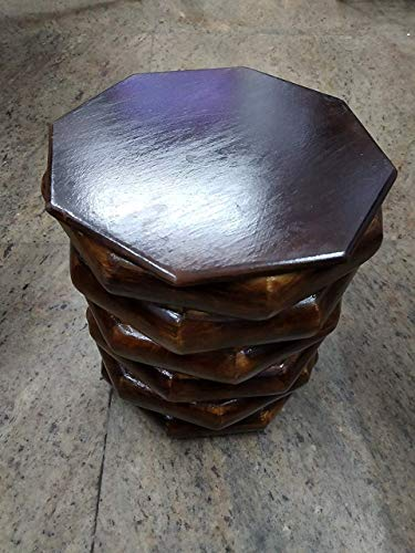 Hamid Handicraft Wooden Small Stool/Table for Home and Decoration -Brown