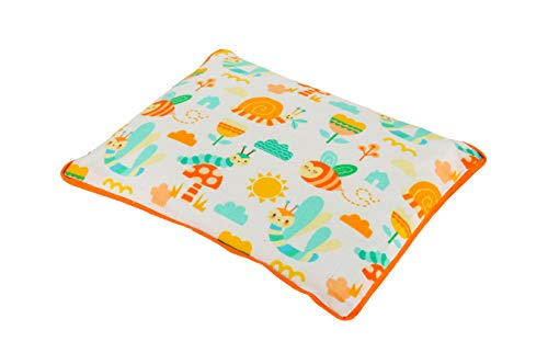 KANYOGA Mustard Rai Seed Baby Head Shaping Pillow for Sleeping with Removable Cotton Cover -Animal Print, L 21 x W 26 x H 3 cm