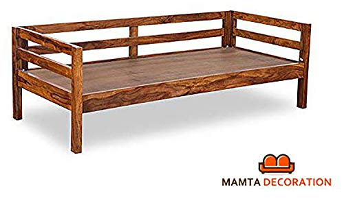 MAMTA DECORATION Sheesham Wood Backless Divider Daybed Sofa for Living Room