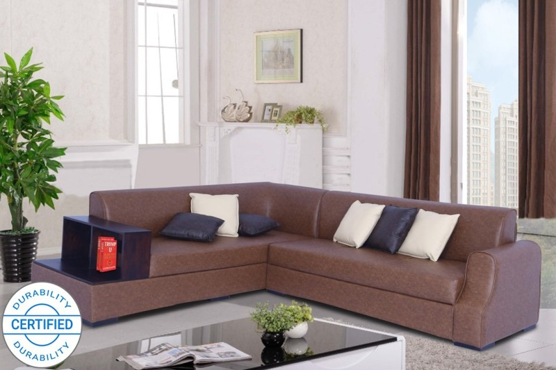Muebles Casa Marco Leatherette 6 Seater Sofa  -Finish Color – Brown