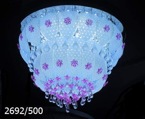 Multicolored led and Musical(Bluetooth). Chandelier, with White and Warm White Light,