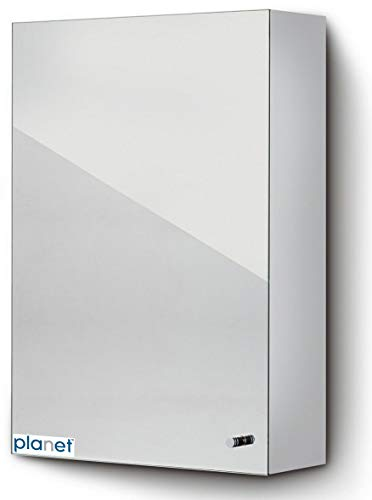 Planet Platinum 304 Grade Stainless Steel Bathroom Cabinet with mirror