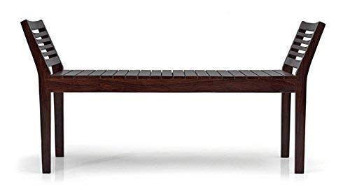 Rani Sati Furniture Solid Wood Bench for Home and Outdoor -Sheesham Wood, Mahogany Finish