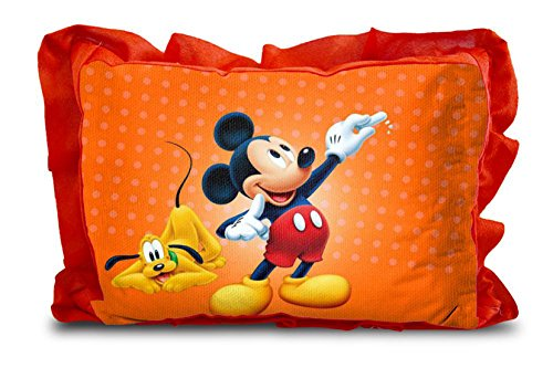 Rectangle Shape Cartoon Printed Micro Fabric and Velvet Baby Pillow – 12 x 18-inches