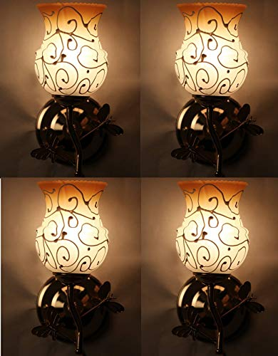 Royal Glass Fancy Light Wall lamp with Metal Fitting and All Fixture Set of Four