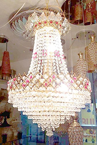 S M Arcade Original Pyramid Crystal Chandelier