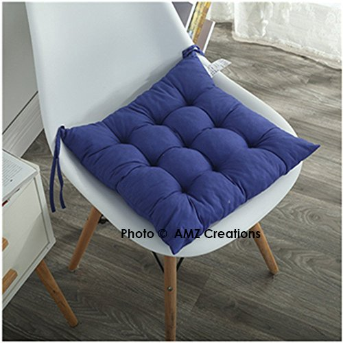 AMZ Microfibre Chair Pad Cushion Seat -Royal Blue