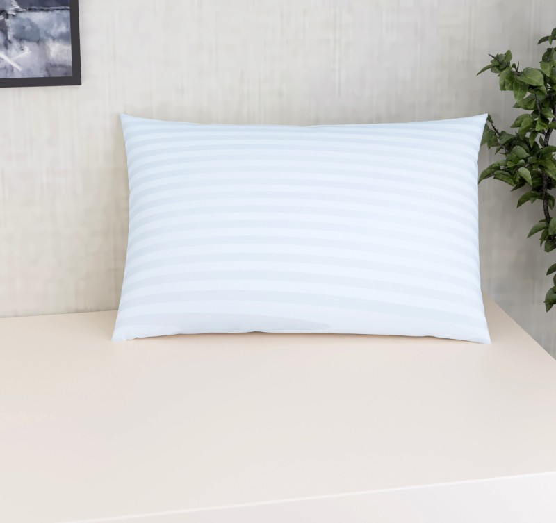 Flipkart SmartBuy Polyester Fibre Stripes Sleeping Pillow Pack of 1 -White