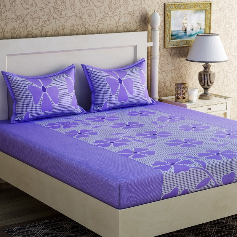 Double Bedsheets with 2 Pillow Covers at 199.